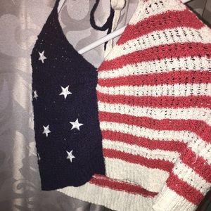 American Eagle Crochet crop top